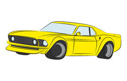 Coloured muscle car. Illustration Stock Photography