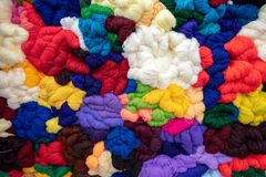 Coloured natural wool in Maramures county , Romania. A royalty free stock photos