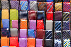 Coloured neckties background Royalty Free Stock Photography