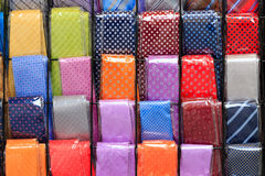 Coloured neckties background Royalty Free Stock Photo