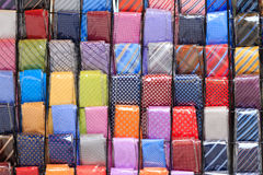 Coloured neckties background Royalty Free Stock Image