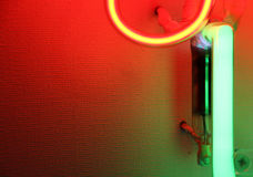 Coloured neon lights, detail Stock Photography