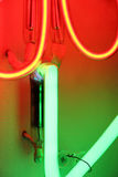Coloured neon lights, detail Royalty Free Stock Images