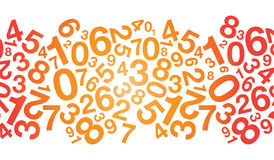 Coloured number background Royalty Free Stock Photo