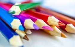 Coloured ołówek zdjęcia stock