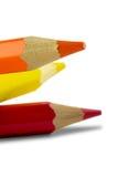Coloured ołówki zdjęcie stock