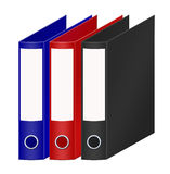 Coloured office folders Stock Photo