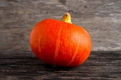 Coloured orange autumn Pumpkin on wooden background.  Stock Photos