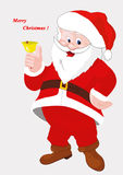 A coloured Outline of a Santa Claus. Santa Claus drawn by hand on graphic tablet vector illustration