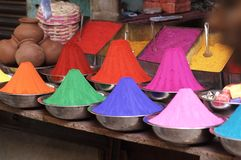 Coloured Paint Powder For Sale Stock Photography