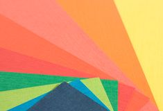 Coloured paper. Background of a different coloured paper. macro royalty free stock images