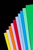 Coloured paper sheets. Stacked one on another Royalty Free Stock Images