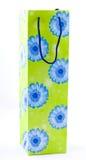 Coloured paper shopping bag Stock Photos