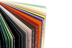 Coloured papers Royalty Free Stock Photography
