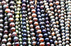 Coloured Pearls Royalty Free Stock Photography