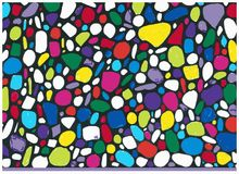 Coloured Pebbles Stock Images