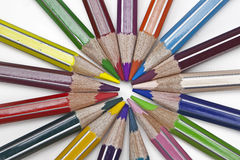 Coloured pencil. Several pencils in several colours Royalty Free Stock Photography