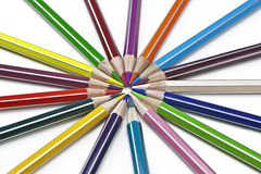 Coloured pencil. S in several colours Stock Image