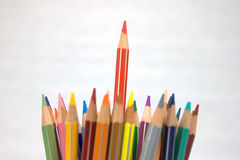 Coloured pencil. A pile of pencils in several colours Stock Photo