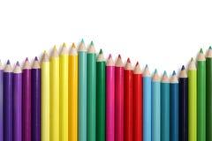 Coloured pencil bar graph Royalty Free Stock Photos