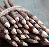 Coloured pencil, colouful crayon Stock Images