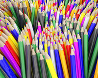 Coloured pencil crayons Stock Photos