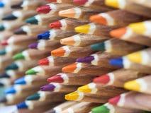 Coloured pencil tips Stock Photo