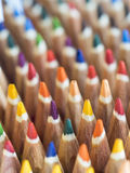 Coloured pencil tips Stock Photography