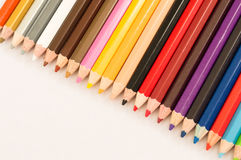Coloured pencil. The coloured pencil on the white background royalty free stock photos