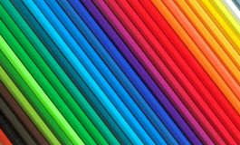 Coloured pencils. Rainbow from varicoloured pencils Royalty Free Stock Images