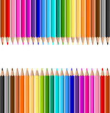Coloured pencils. Background of lots of coloured pencils Stock Photo