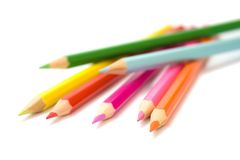 Coloured pencils. Isolated on a white background Stock Photography