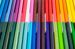 Coloured Pencils. A lot of coloured pencils which Arranged in a row Royalty Free Stock Photos