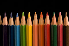 Coloured pencils. Are used to the drawing, and are absent in no schoolbag Royalty Free Stock Images