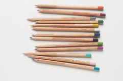 Coloured Pencils. Selection of wooden coloured pencils Stock Images
