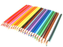 Coloured pencils. Ready to be used stock photography