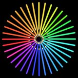 Coloured pencils arranged in a circle. Stock Images