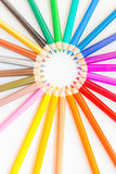 Coloured pencils Background. Coloured pencils  on white background Royalty Free Stock Images