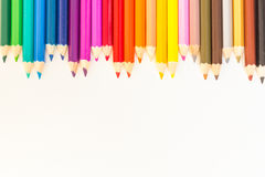 Coloured pencils Background. Coloured pencils isolated on white background Royalty Free Stock Images