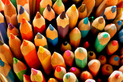 Coloured pencils. Bunch of a sharpened coloured pencils Stock Image