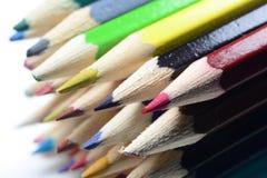 Coloured pencils. A close up photo of a set of coloured pencils Stock Image