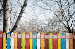 Coloured pencils fence Royalty Free Stock Photo