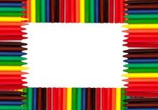 Coloured Pencils Frame Stock Image