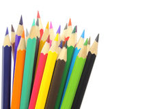Coloured Pencils Isolated On White Stock Photo