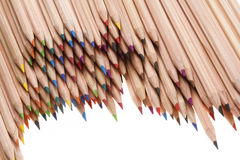Coloured pencils. In many different colors Royalty Free Stock Image