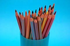Coloured pencils in mug Stock Image