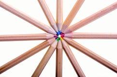 Coloured pencils. Stock Photos