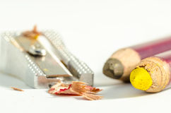 Coloured pencils sharpened Stock Photo