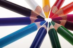 Coloured pencils. Royalty Free Stock Photo