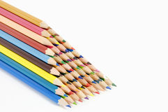 Coloured pencils on white background Royalty Free Stock Photography